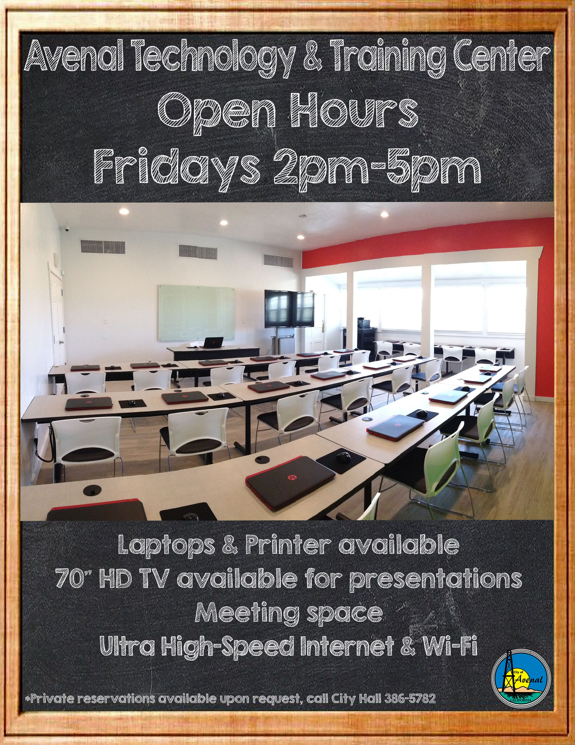 Avenal Tech Center Open Hours