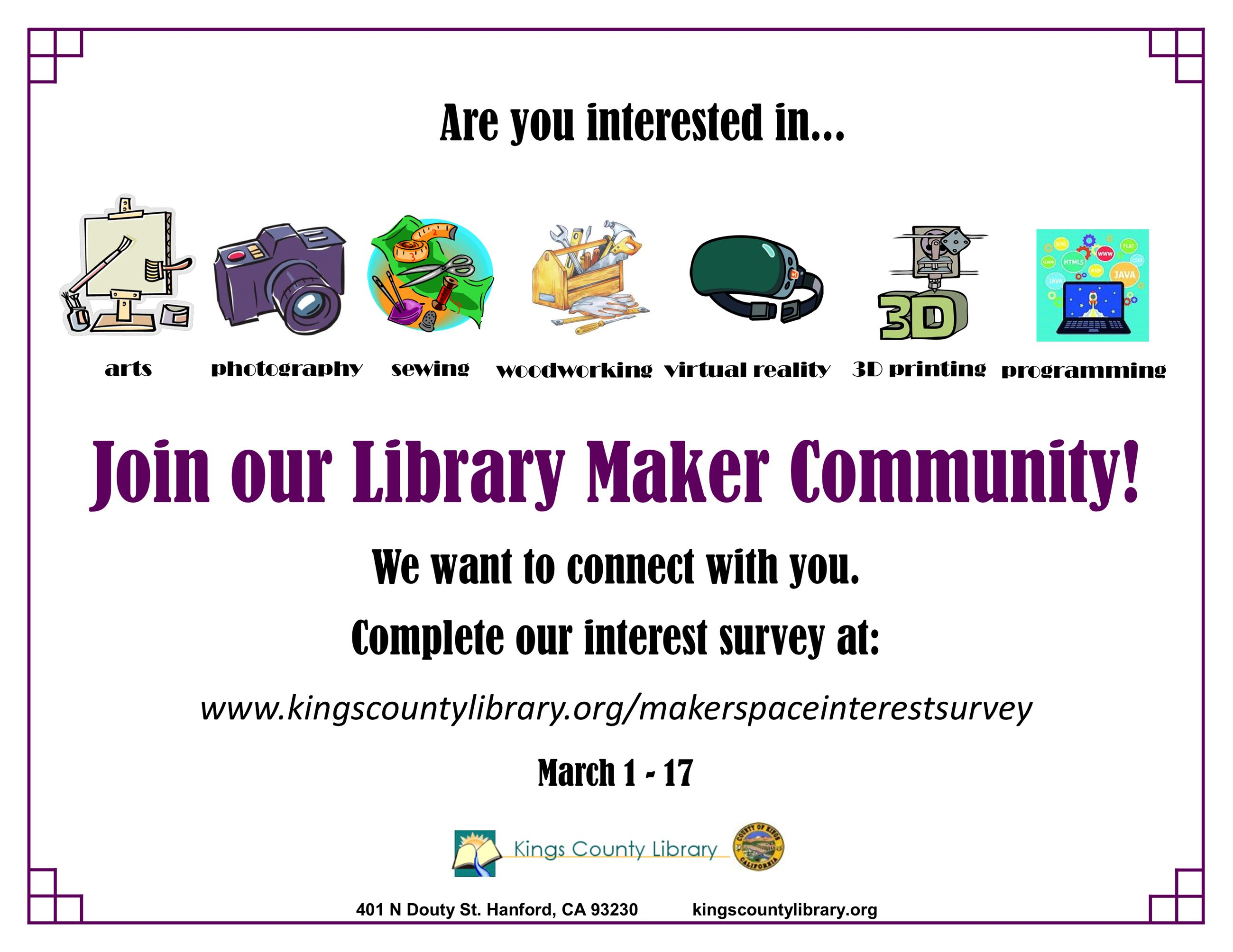 Library Maker Community flyer