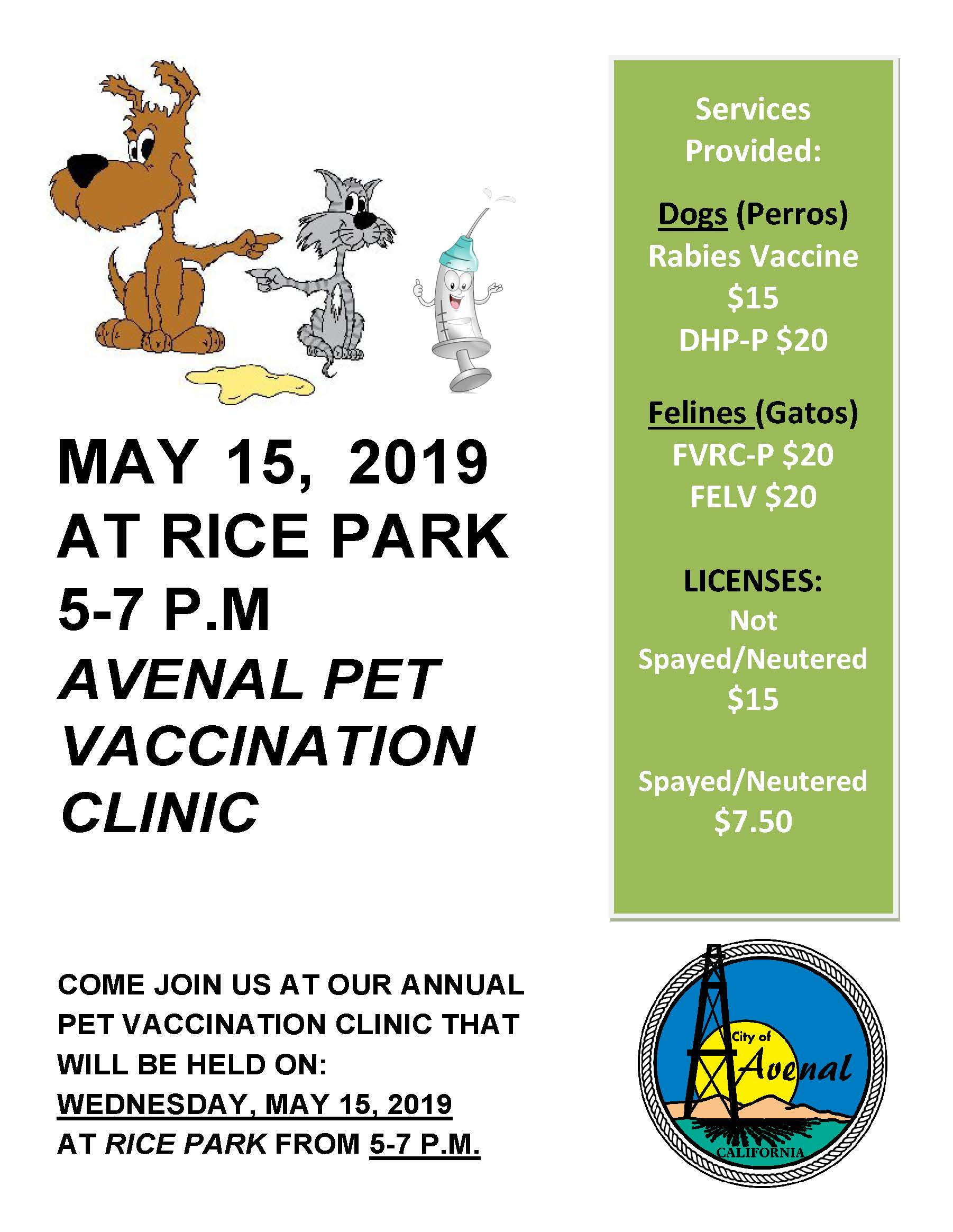 Pet Vaccination clinic 2019