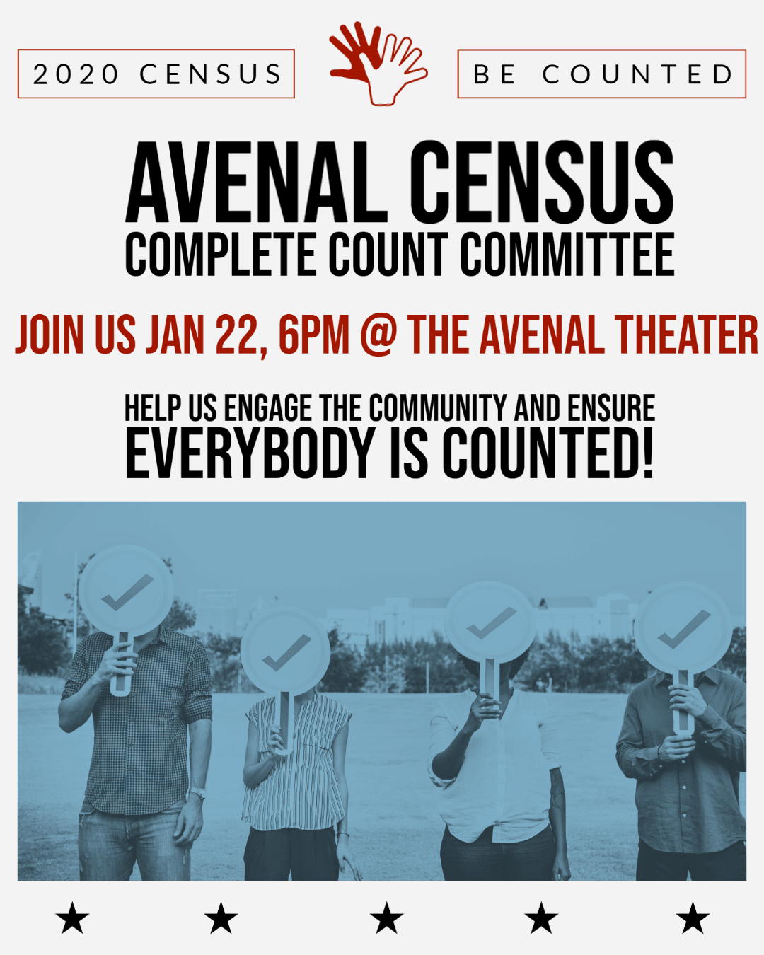 Avenal Census Complete Count Invitation Flyer