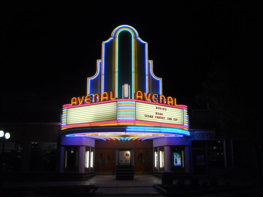 Avenal Theater at Night